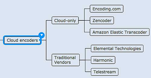 Figure 10. The two classes of cloud encoding vendors.
