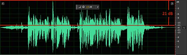 Here there's a 21 dB difference between the background music and narration, so the narration is much easier to understand.