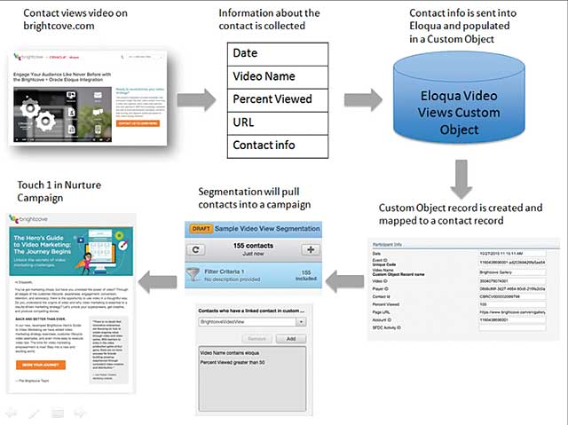 Figure 2. Moving prospects through the sales funnel via Brightcove video and the Eloqua marketing automation program