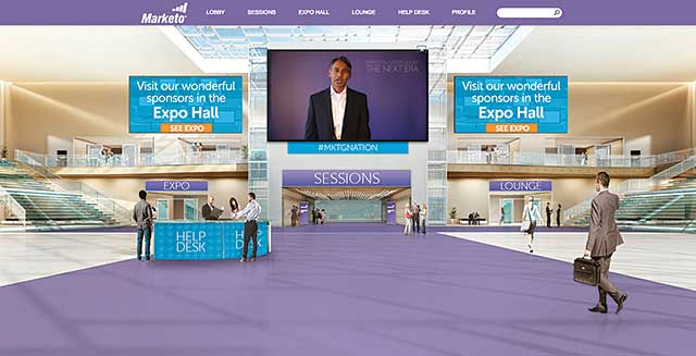 Figure 5. Virtual events like this one produced using the INXPO online event platform provide a river of user data.
