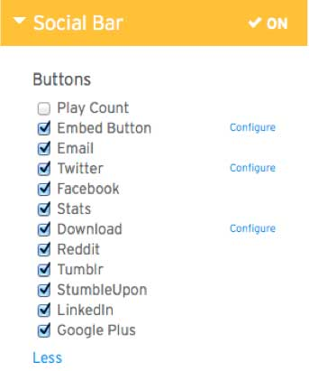 Figure 1. Wistia provides lots of links to social media sites.
