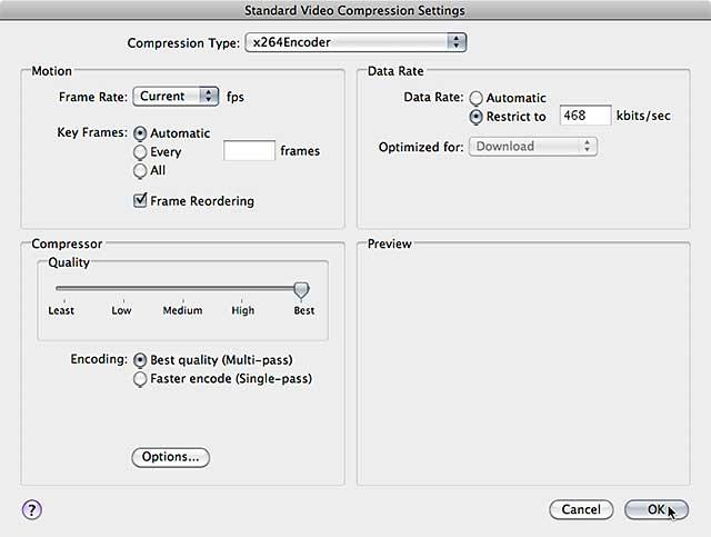 Figure 9. Finalizing your video encoding parameters.